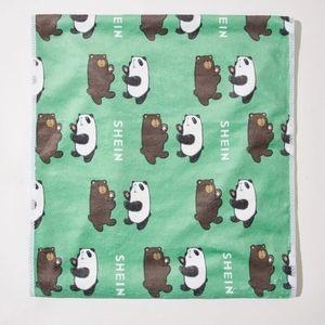 animal panda and bear towel